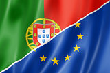 Portugal and Europe flag