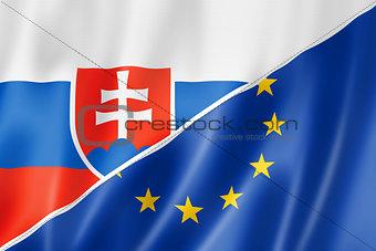 Slovakia and Europe flag