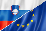 Slovenia and Europe flag