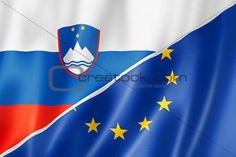 Slovenia and Europe flag