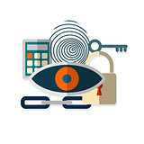 Web security concept icon.