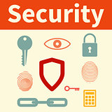 Web security set of icons.