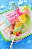Icecream and popsicle