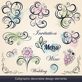 calligraphic decorative design elements