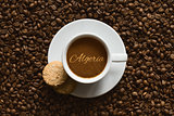 Still life - coffee wtih text Algeria