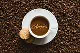 Still life - coffee wtih text Angola