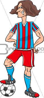 football player cartoon illustration