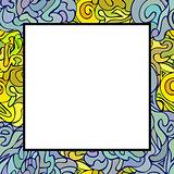 Hand drawn doodle art frame.