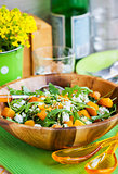 Butternut squash, arugula, couscous and feta salad