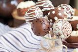 Homemade chocolate cake pops