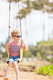 boy at swings