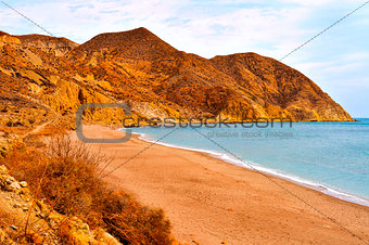 Algarrobico Beach in the Cabo de Gata-Nijar Natural Park, in Spa