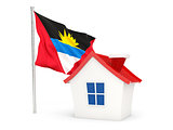 House with flag of antigua and barbuda