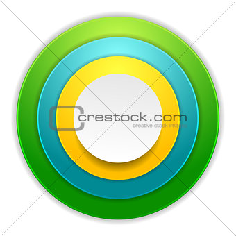 Bright colorful circles corporate background
