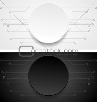 Abstract vector tech banners