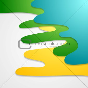 Corporate bright wavy abstract background