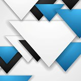 Corporate abstract tech triangles background