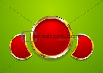 Bright golden frame vector design