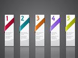Advertising label set of five