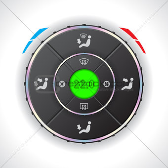 Car auto climatronic gauge with green LCD
