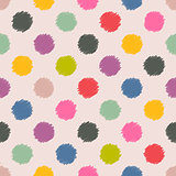 Scribbled spots color pattern background