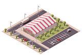 Vector isometric sale tent store