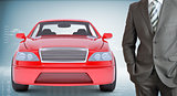 Businessman with car