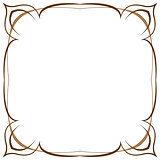 Multilayer vector brown frame on a white background