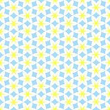 Hexagon flower seamless pattern