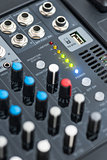 Detail of a Professional Mixing Console