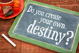 Do you create your own destiny question