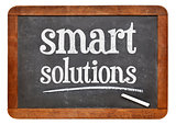 Smart solutions blackboard sign