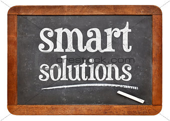 Smart solutions blackboard sign