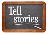 Tell stories advice on blackboard