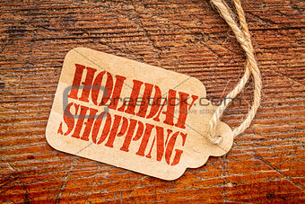 Holiday shopping sign a paper price tag