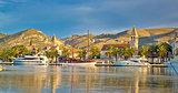 UNESCO city of Trogir skyline