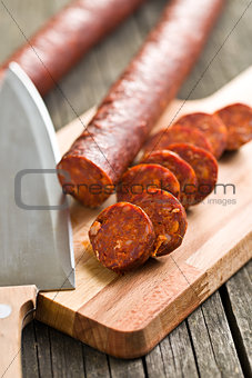 sliced dried sausages
