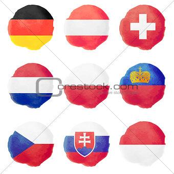 Watercolor Flags, Part II