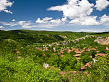 View from high to beautiful village Nisovo-Bulgaria