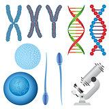Set of biology objects.