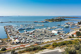 Panoramic view of port and boots, Sozopol