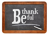 Be thankful blackboard sign