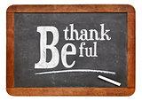 Be thankful blackboard sign