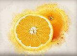 Grunge oranges