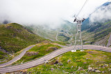 Transfagarasan mountain road from Romania