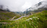 Transfagarasan mountain road from Romania