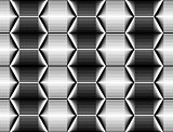 Design seamless monochrome hexagon pattern