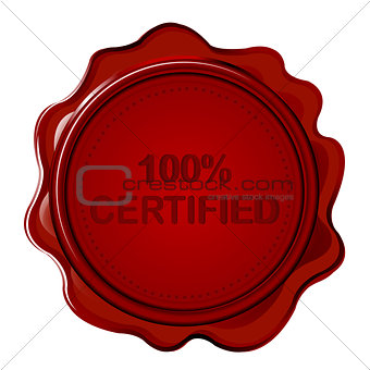 100% CERTIFIED wax seal