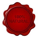 100% NATURAL wax seal