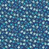 Floral seamless with blue flowers